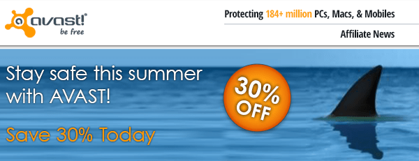 Stay safe this summer with avast! Save 30% today.