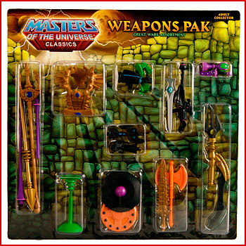 MOTUC Weapons Pak Great Wars Assortment