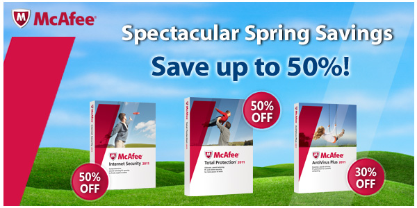 McAfee | Spectacular Spring Savings | Save up to 50%!