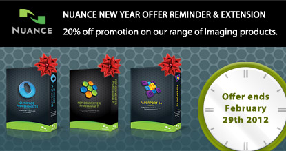 Nuance NEW YEAR OFFER REMINDER & EXTENSION
