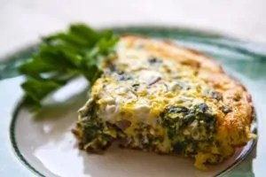 spinach frittata goat cheese