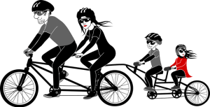 Bicycling family Healthy