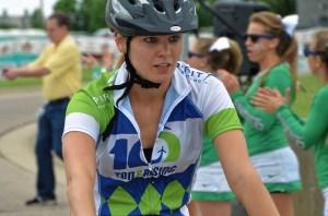 bicycling woman