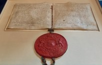 Royal Society of Edinburgh Crown Charter of Incorporation and seal
