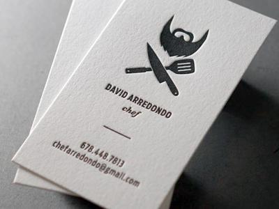 davidcard Business Card #1   20 cartes de visite avec effet papier