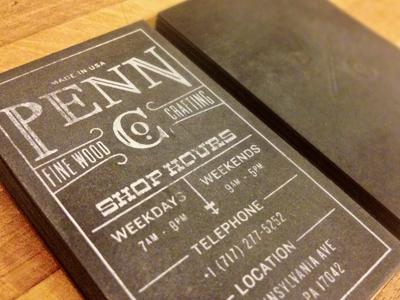 pennco dribbble Business Card #1   20 cartes de visite avec effet papier