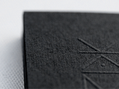 kaimak Business Card #1   20 cartes de visite avec effet papier