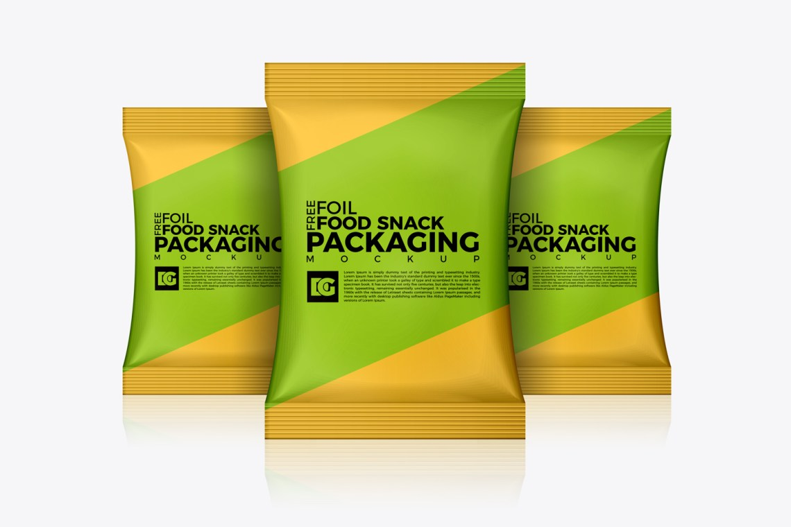 Download Free Foil Food Snack Packaging Mockup | Dribbble Graphics