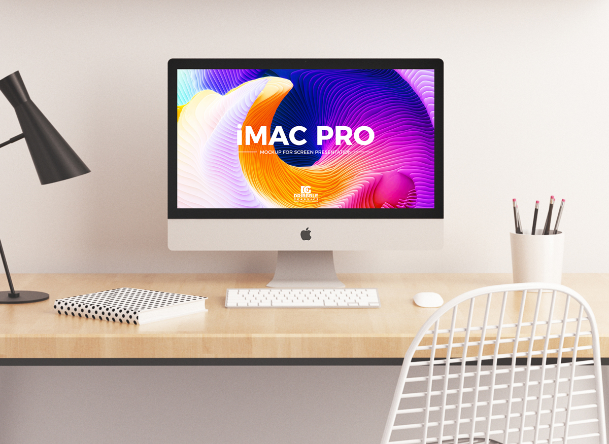 Free Imac Pro Mockup Psd For Website Screen Presentation 2018