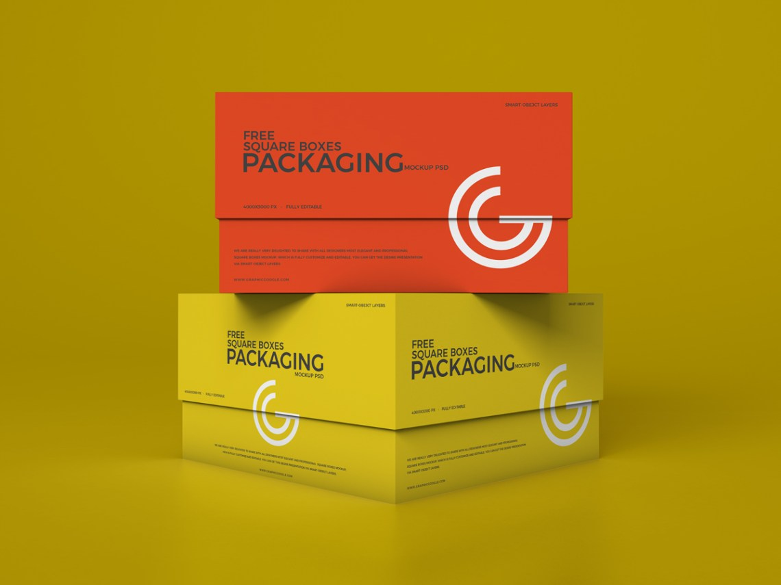 Download Free Packaging Boxes Mockup Design 2019 | Dribbble Graphics