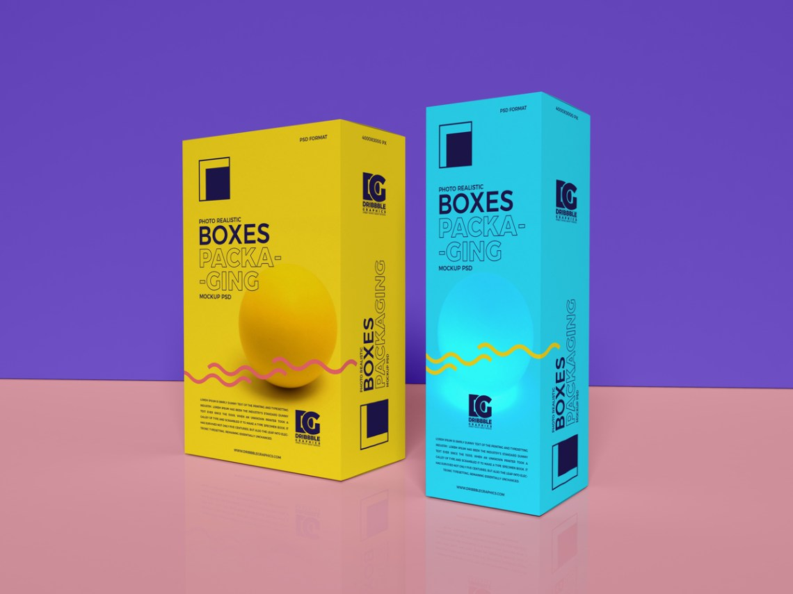 Download Free Photo Realistic Boxes Packaging Mockup PSD 2019 ...