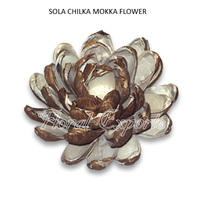 Sola Chilka Mokka Flowers 10cm Natural