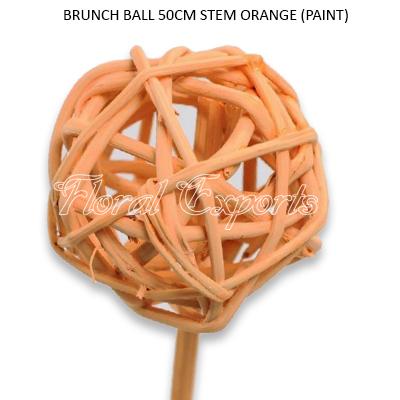 Brunch Ball Paint Color on 50cm Stem - Weaving Brunch Balls Wholesale