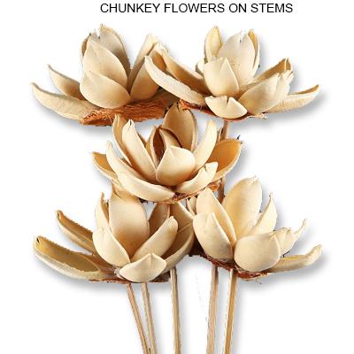 Chunkey Flowers on Stem - Wholesale Handmade Flowers