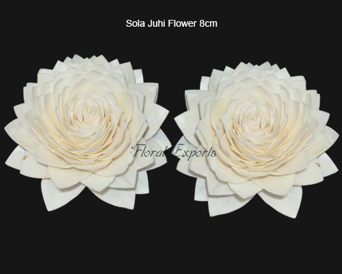Sola Juhi Flower 8cm Natural - Bulk Sola Flowers Suppliers