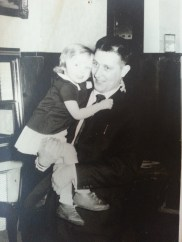 Safe in the strong arms of my father.