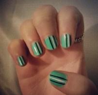 Green black and white stripes