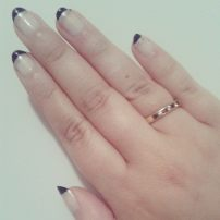 Black and silver tips