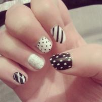 Black and white mix