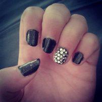 Black sparkly and rhinestones