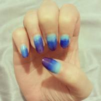 Gradient blue to purple