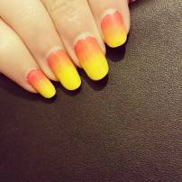 Gradient pink to yellow