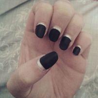 Matte black and silver