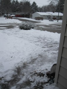 I shoveled the driveway all by myself!