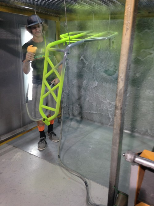 Powder Coating an Xtrike frame