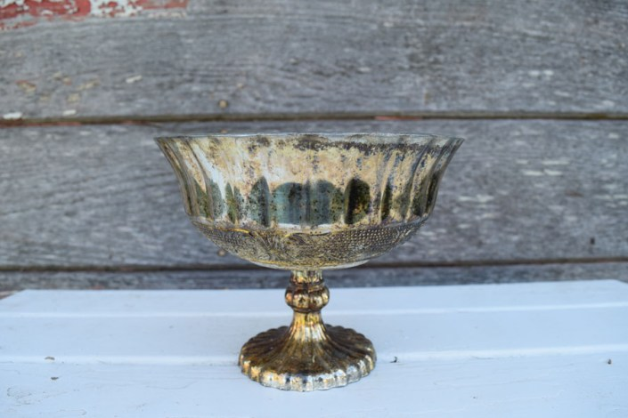 Vintage gold/bronze mercury glass compote dishes