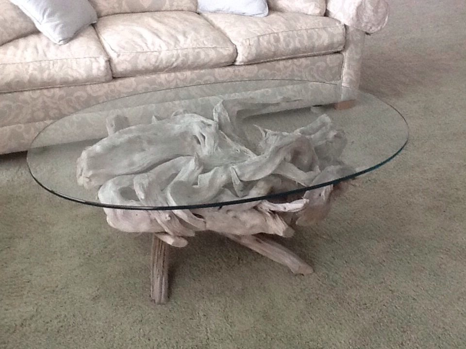 Maine driftwood coffee table driftwood decor for Driftwood coffee table