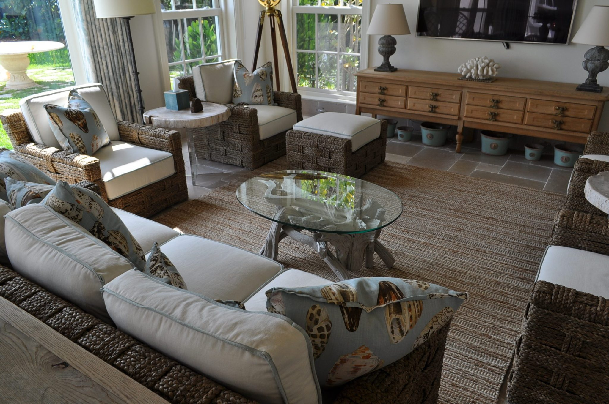 The Inside Of The Home Was Very Nicely Furnished In A Style Nikki Called  Elegantly Casual U0026 My Small Oval Driftwood Coffee Table Was Placed In A  Room With A ...