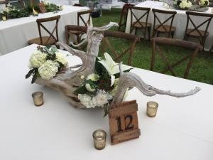 wedding driftwood pieces