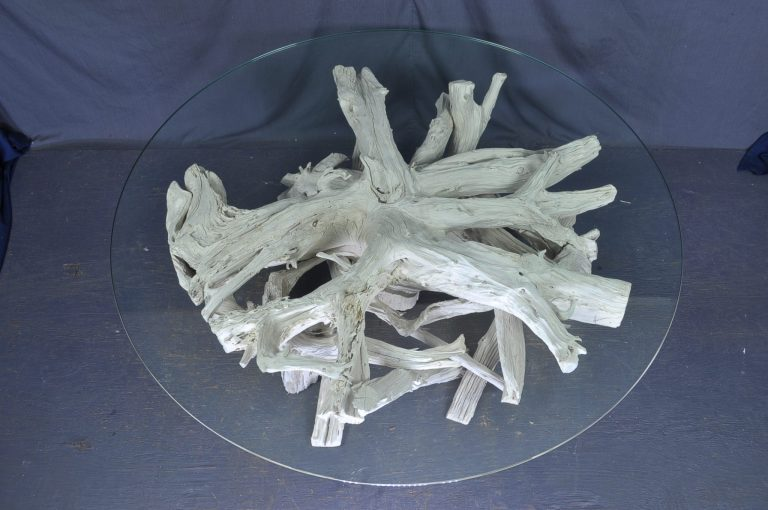 round -glass-driftwood-coffee-table
