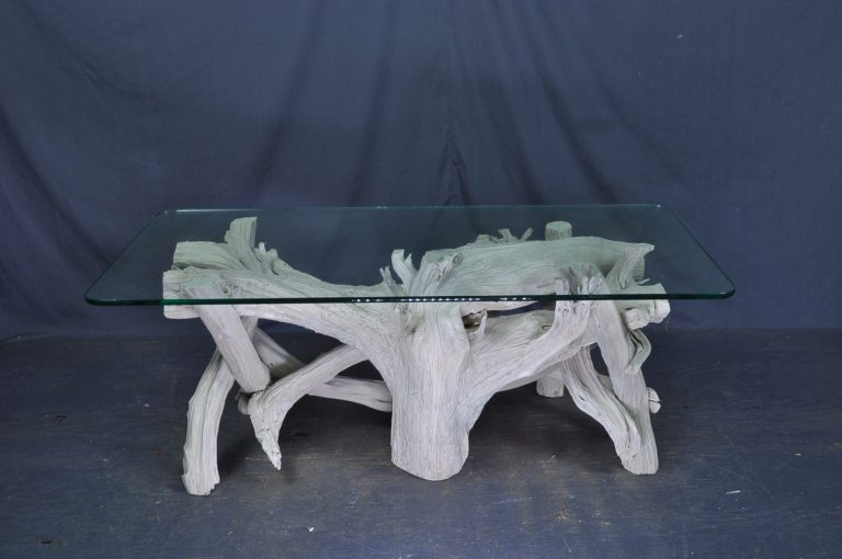 rectangle- glass-driftwood-coffee-table