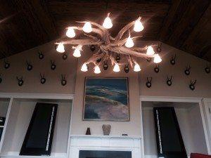 driftwood chandelier in Marha's Vineyard