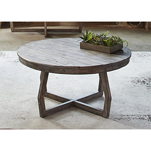 cocktail coffee tables transitional rustic hayden way gray wash reclaimed wood round cocktail table assembly required 41 ot1010 37 in width x 37