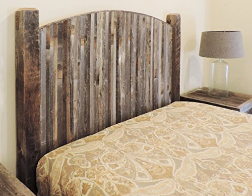 Farmhouse Style Arched King Bed Barn Wood Headboard W Narrow Rustic Reclaimed Wood Slats
