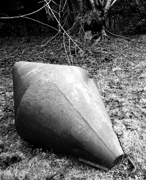 La Bomba An abandoned navigation buoy at forest's edge on Gabriola Island...yet another untold story