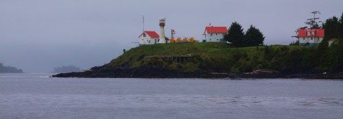 Scarlett Point light, Balaclava Island. Now a rare manned light station. I received a hearty wave from someone in the house on the right.