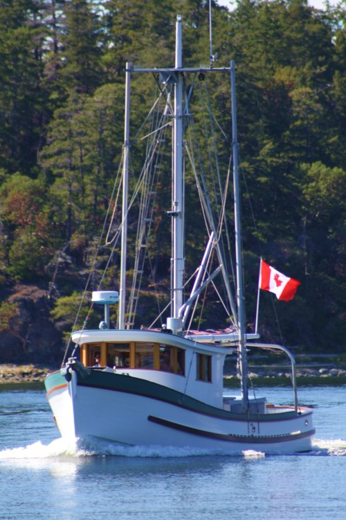 Eye Candy. A beautiful old salmon trawler lovingly converted to a lovely classic motor yacht.