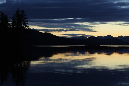 First Light Same anchorage, looking East in the morning