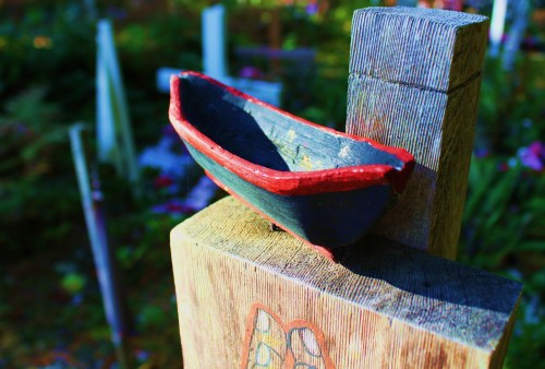 The amount of work that went into this little canoe betrays a deep affection.