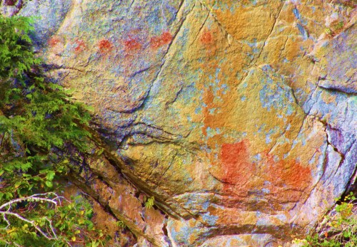 Pictographs Troup Narrows Note: All photos have been colour-enhanced to improve clarity except as noted