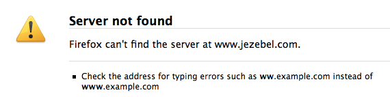typical firefox error message