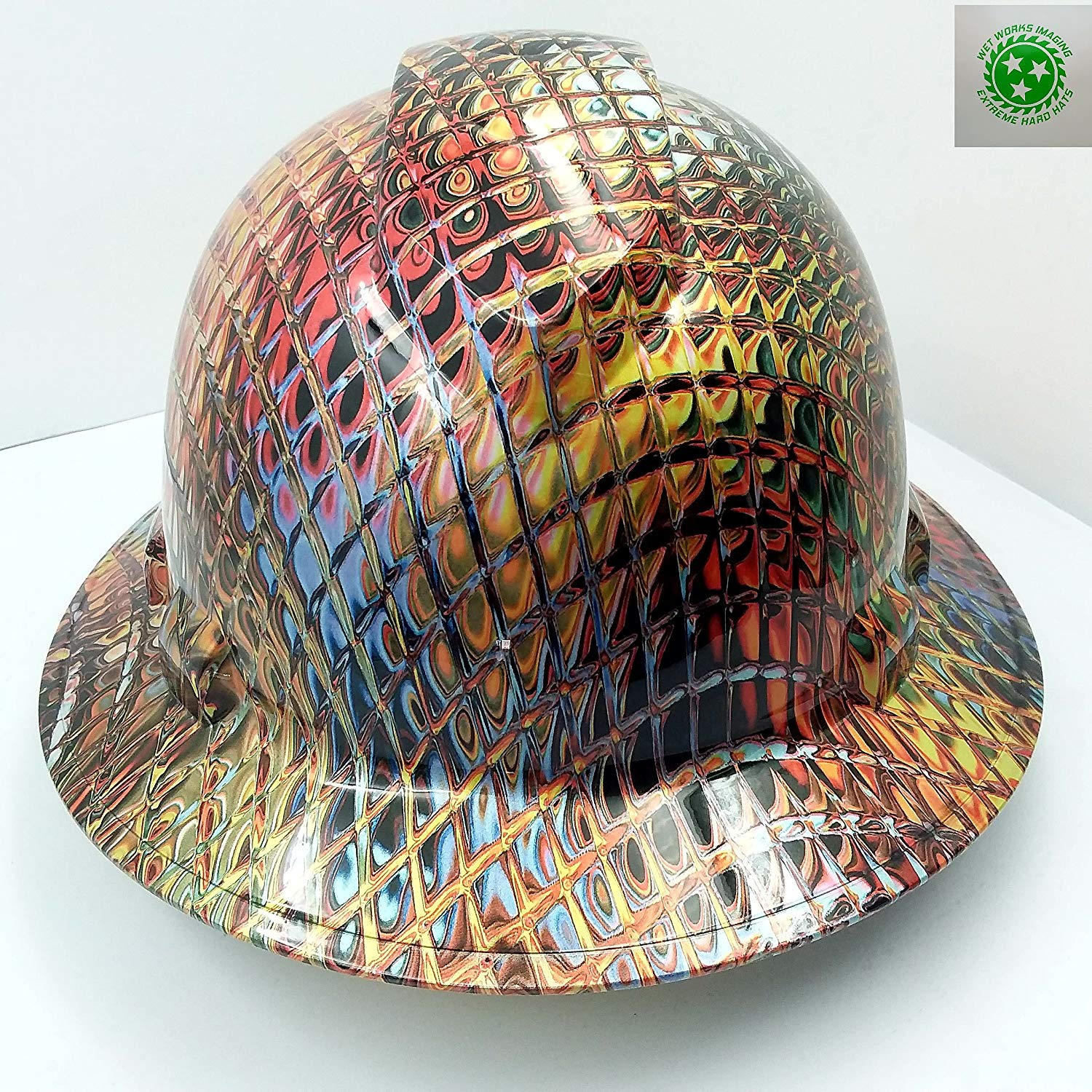 IRON MAN METALLIC SWIRL HARD HAT
