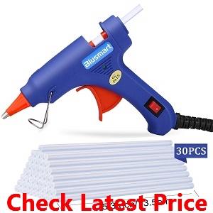 Blusmart Upgraded Mini Hot Glue Gun with 30 Pcs Melt Glue Sticks_Modified