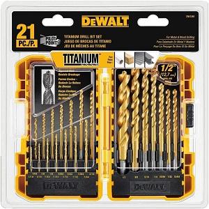 DEWALT DW1361 Titanium Pilot Point Drill Bit Set