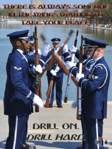 Drill team training and motivation