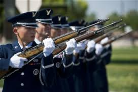 The Nellis AFB Honor Guard Firing Party